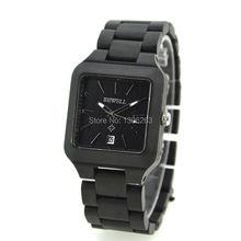 La moda de nueva cuarzo de japón de pulsera de madera de bambú reloj para hombre y mujeres regalos navidad de madera reloj nuevo diseñador caliente de reloj de madera
