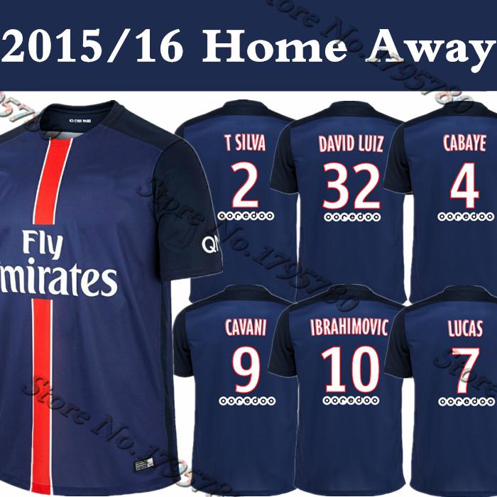 Top Thailand 2015/16 Frances PSJ Home Away Soccer Jersey Futbol Camisa 15 16 Football Shirt Kit Camiseta Free Shipping(China (Mainland))