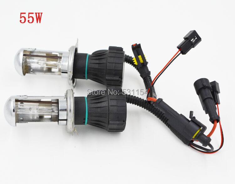 2X Bi Xenon 55W H4 12V DC HID Automotive Headlight Replacement Bulbs H4-3 BiXenon Hi/Lo Beam Lamp 4300/6000/8000K FREE SHIPPING()