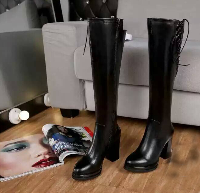 new 2015 women boots big brands design genuine leather round toe Heeled Boots Winter design famous brand Knee boots winter shoes<br><br>Aliexpress