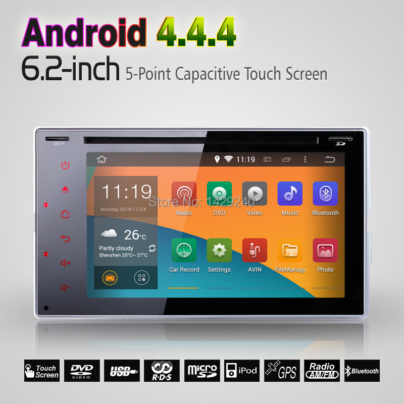 Universal Double 2 Din Android 4.4.4 Car DVD GPS Navigation Player+Auto Radio+3G+Wifi+Audio+Stereo+Head Unit+DVD Automotive(China (Mainland))