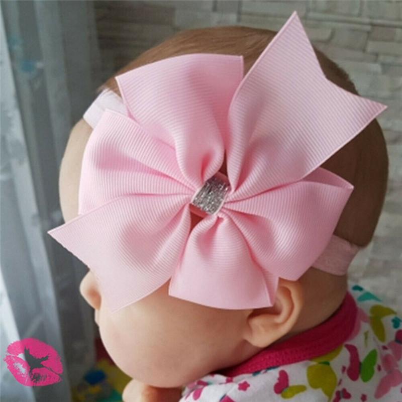 Милые для волос маленькой девочки платье с большим бантом детей Детская повязка