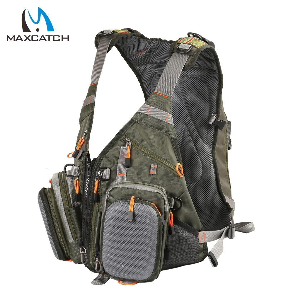 Maxcatch new fly fishing backpack and vest combo fishing for Fly fishing backpack