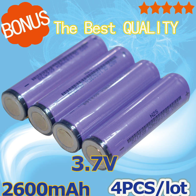 4PCS 2000mAh 18650 3.7V +Protected Li-ion Rechargeable Battery for flashlight [ Wholesale prices are more favorable ](China (Mainland))