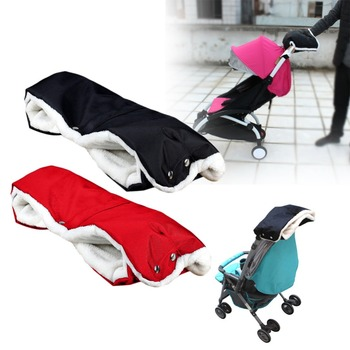 New Stroller Warmer Gloves Pushchair Hand Muff Waterproof Pram Accessory Baby Carriage Glove Buggy Clutch Cart Muff Glove FCI#