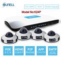 SUNELL K24P 4CH NVR Kit 1080P POE IR Mini Dome Camera HD IP Camera System CCTV