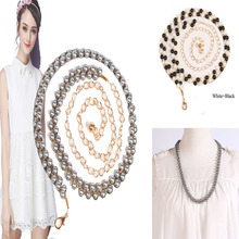 2016 New Fashionable Metal Waist Dress Belt Necklace Bead Strap For Women Ladies Round-shaped Waistband Accessories(China (Mainland))