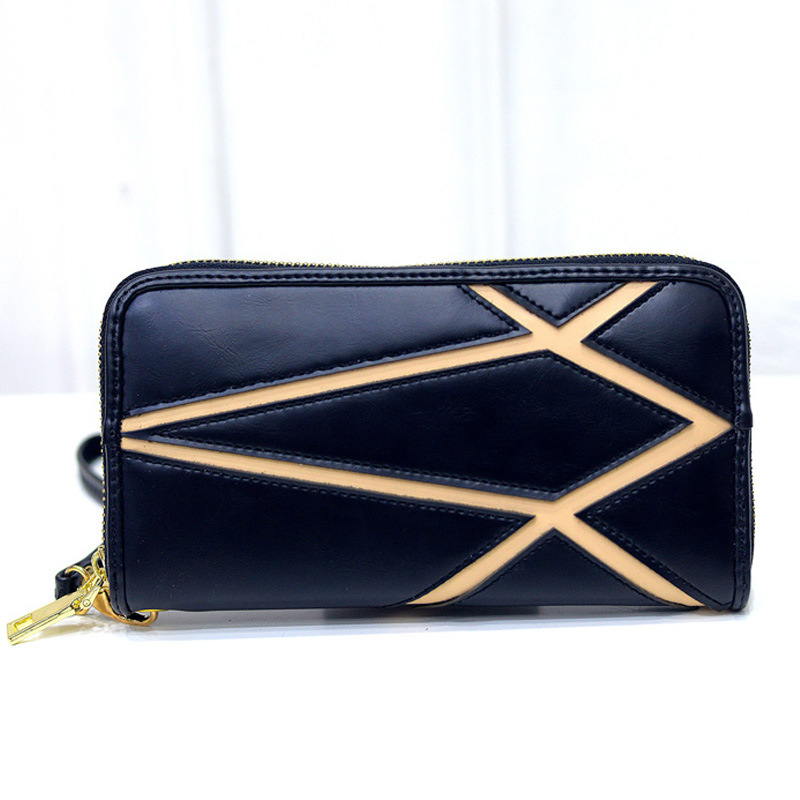 Women Best High Quality Wallet Cell Phone Pocket Female Purse Brand Leather Id Card Holder Ladies Wallets Wristlet(China (Mainland))