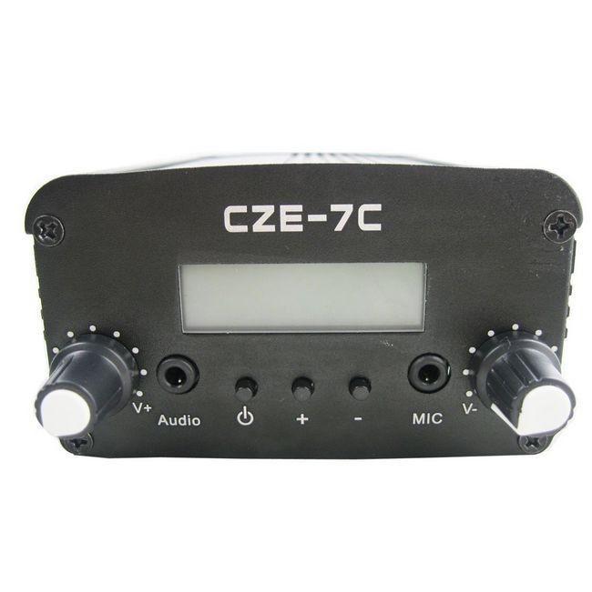 wholesale free shipping 10PCS czh-7c 7W FM stereo PLL broadcast transmitter(China (Mainland))