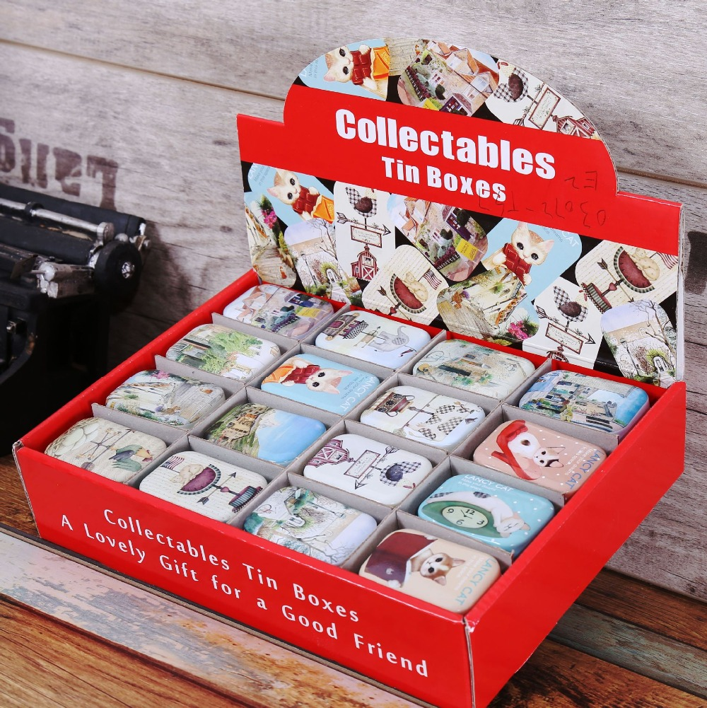free shipping~32PCS / set zakka grocery box display box packaging creative small tin box kit New Dimensions 5.5 * 2.5 * 4CM(China (Mainland))