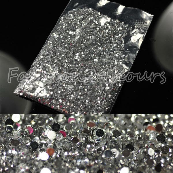 Здесь можно купить  EMS Free Shipping 100packs/lot 20000pcs 1.5mm Clear Nail Art Rhinestone Decoration Glitter For DIY Tips For Wholesales  Красота и здоровье