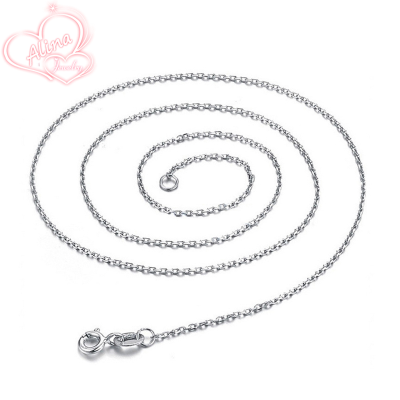 Wholesale Sterling Silver Jewelry Pure Silver Round Rolo Chain Necklace Real Solid 925 Sterling Silver 1.6mm Link Chains AJC001(China (Mainland))