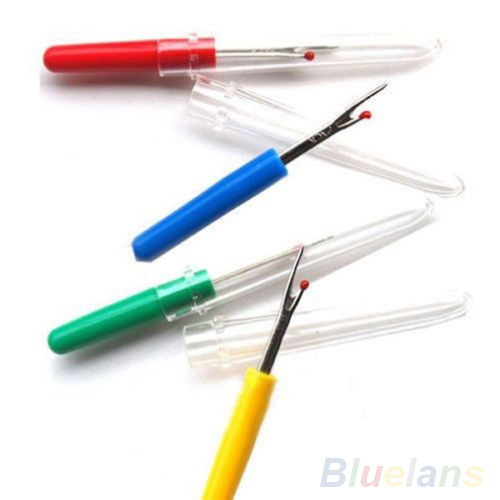 4Pcs Plastic Handle Craft Thread Cutter Seam Ripper Stitch Unpicker Sewing Tool 2MNW 3ANZ