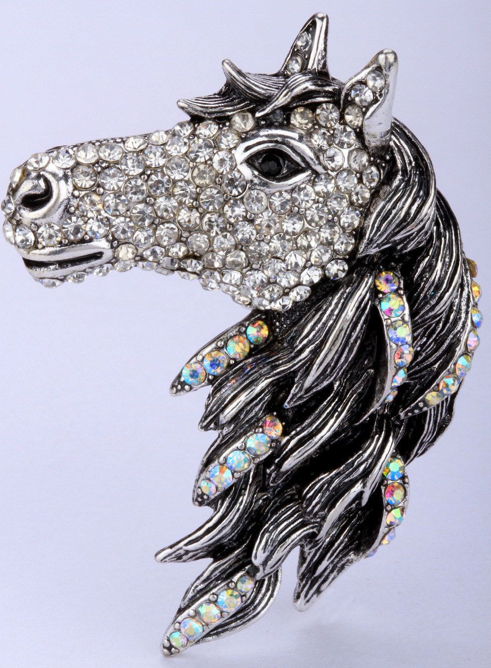 Horse brooch pin pendant for women girls crystal jewelry animal charm 2015 top fashion gold silver plated BA17(China (Mainland))