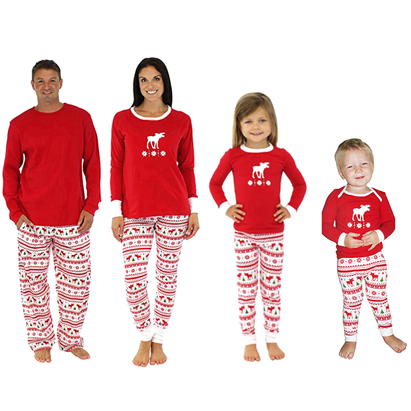Boys Girls Xmas Nightwear Sleepwear Pajamas Sets Children Kids Christmas Clothing Long Sleeve Winter/Fall #96267(China (Mainland))