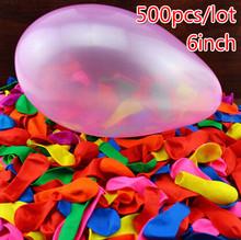 500 unids/lote 6 pulgadas globos de látex engrosamiento globos de Apple de la bola quintain bola gold filled con juguetes de agua parte congelada bolas de aire baloes