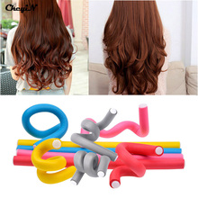 High Quality Female Wholesale Rollers 10pcs Color Hair Curler Makers Soft Foam Rollers Bendy Twist Curls Tool Styling HS20 47 Z(China (Mainland))