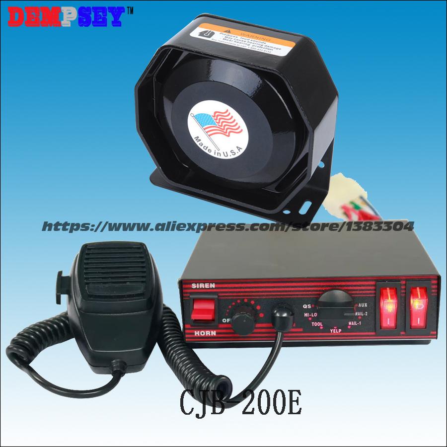 CJB-200E wires Car siren,DC12V fire truck / emergency vehicle 200w alarm siren ,200W Speaker alarm,7Tone ,Police car - DEMPSEY WARNING-LIGHTS Store store