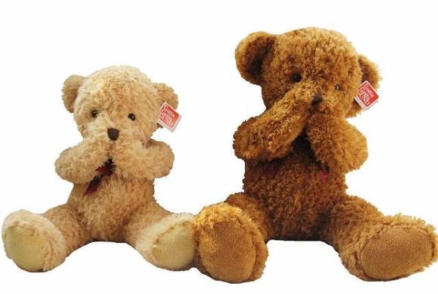 Фотография The lovely shy bear doll teddy bear Magnet bears big plush toy doll birthday gift about 80cm dark brown