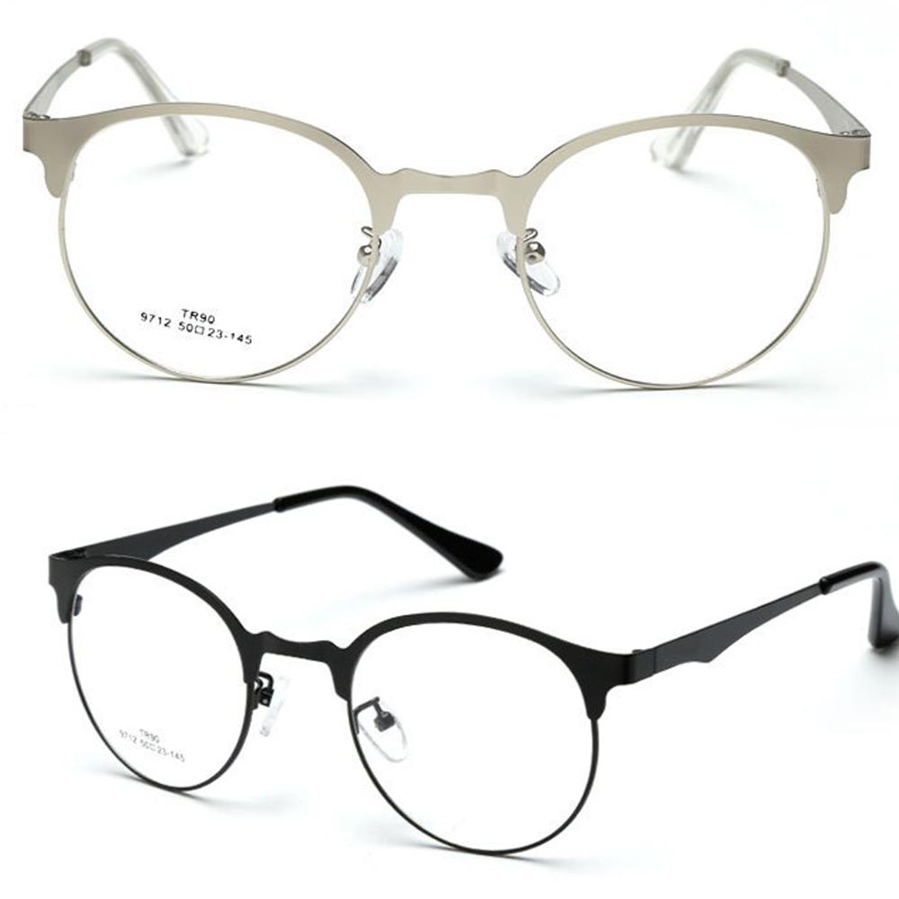 Retro Round Browline Eyeglasses Ultra Thin FRAME CUSTOM ...