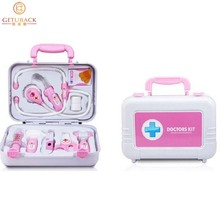 2015 Kids Simulation Portable Medicine Box Doctors Play House Toys for Baby 10PS/Set With Light Classic Toys for Children,RI162(China (Mainland))