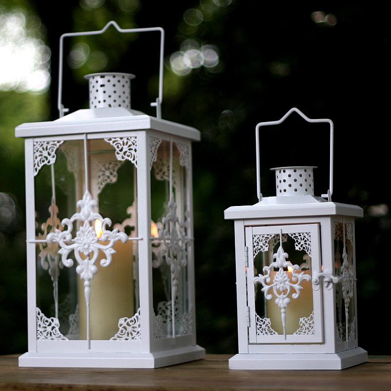 rural romantic iron metal hanging hurricane lantern candleholder candle holder home wedding balcony decoration 653A(China (Mainland))