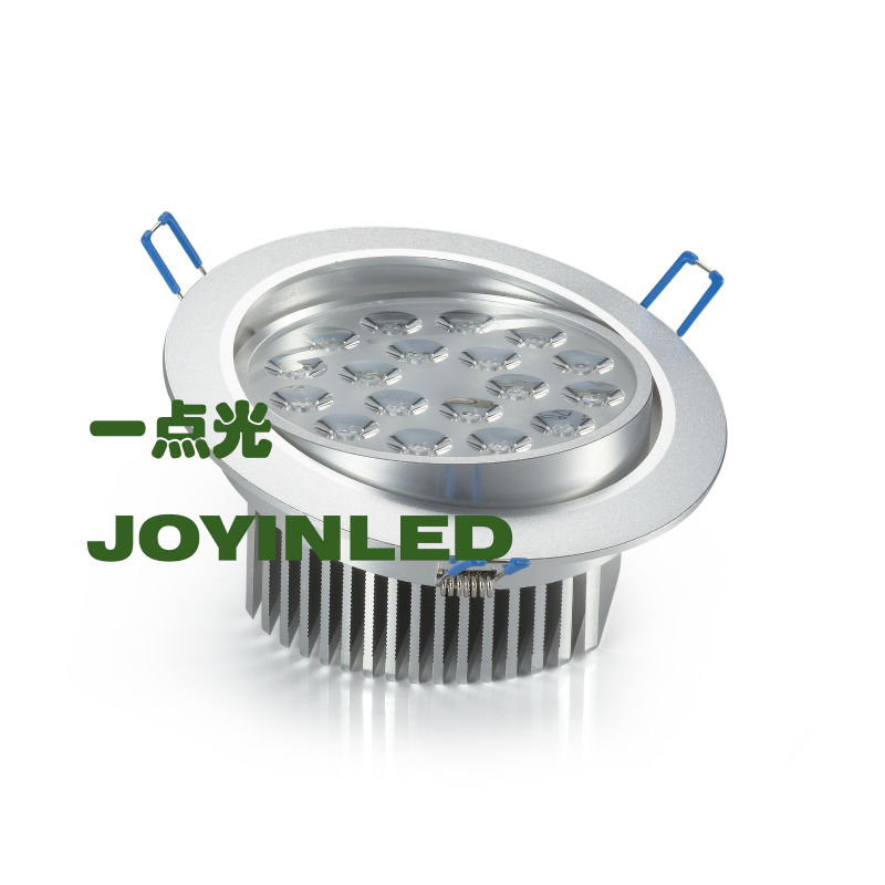 CE ROHS Free shipping High Power LED downlights 18W AC85-265V home decorate led ceilling lamps 18W(China (Mainland))