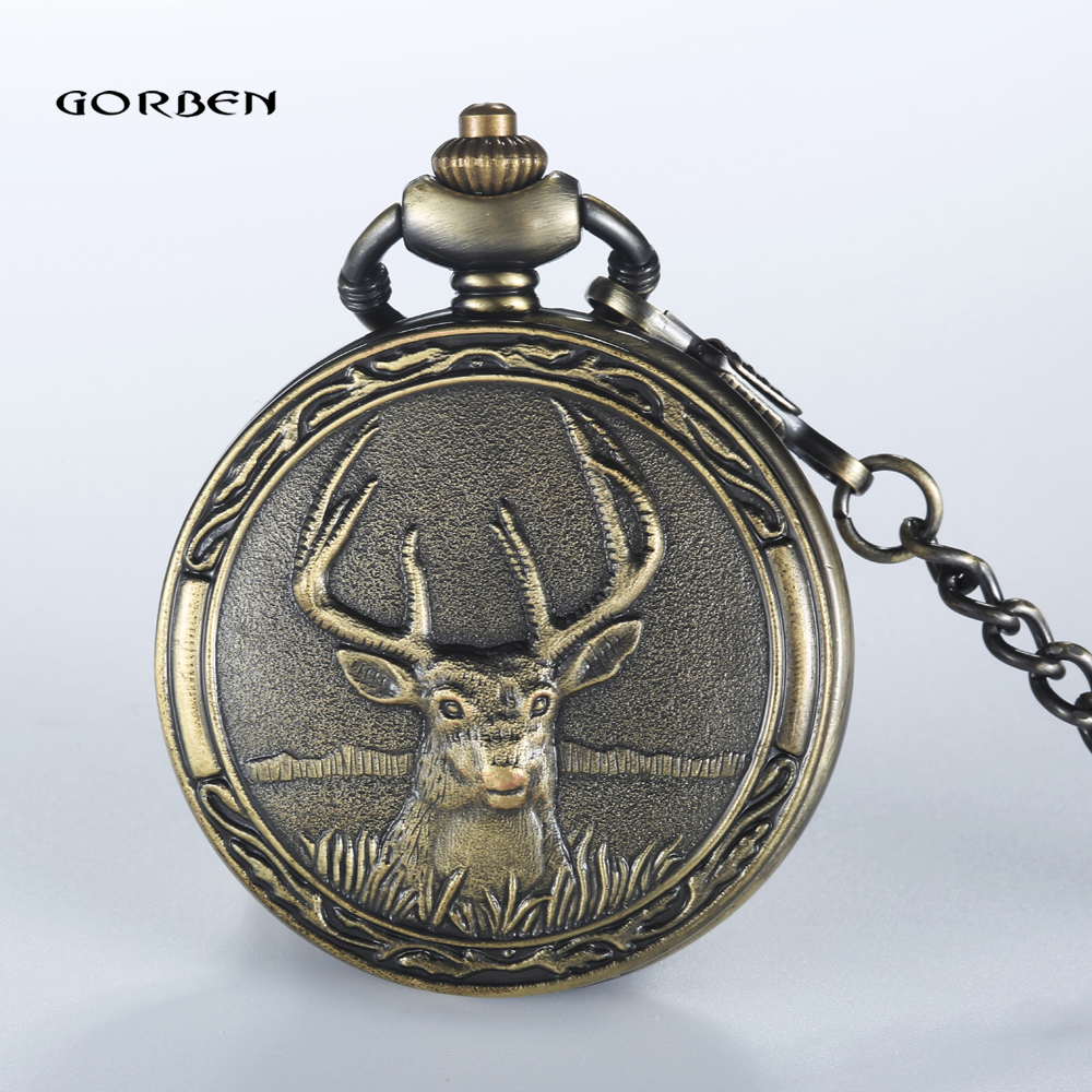 popular deer pocket watchesbuy cheap deer pocket watches