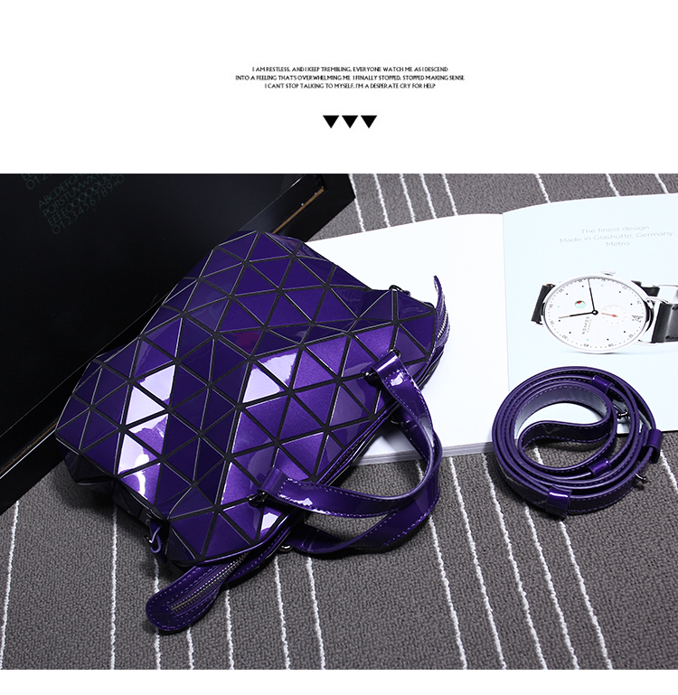 Unisex Briefcases Hot Fashion Preppy Style Women's Totes and Shoulder Bag Geometric Lattice SAME AS BAOBAO BAG Hight Quality