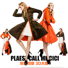 Free shipping new down dress coat female long design expansion bottom slim four kinds of wear, wear on both sides Down & Parkas