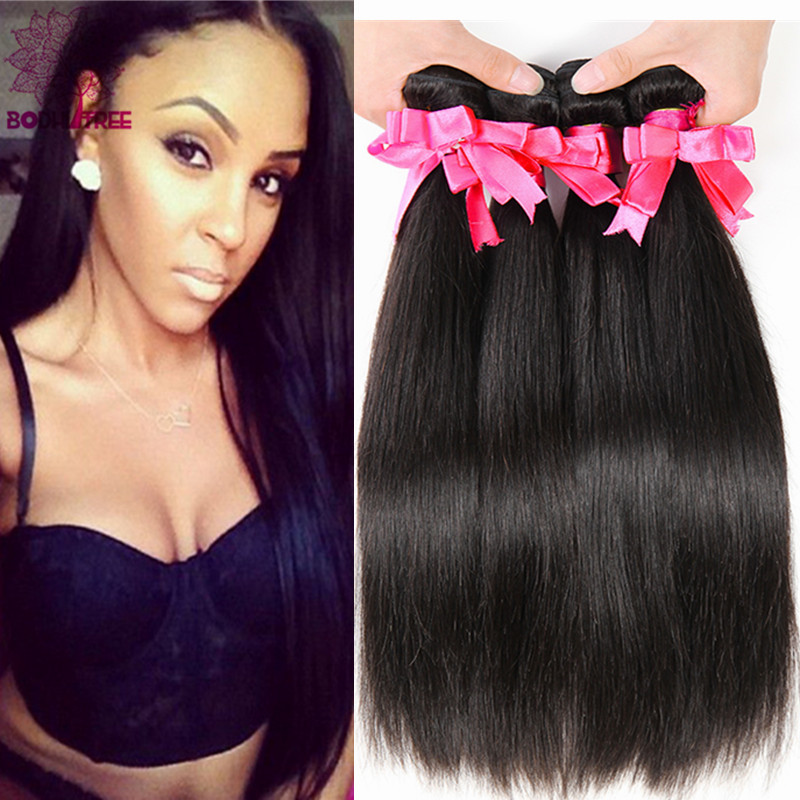 Mongolian Straight Virgin Hair 3PCS Lot 7A Unprocessed Virgin Hair Straight Human Hair Mongolian Straight Hair Natural Black #1B