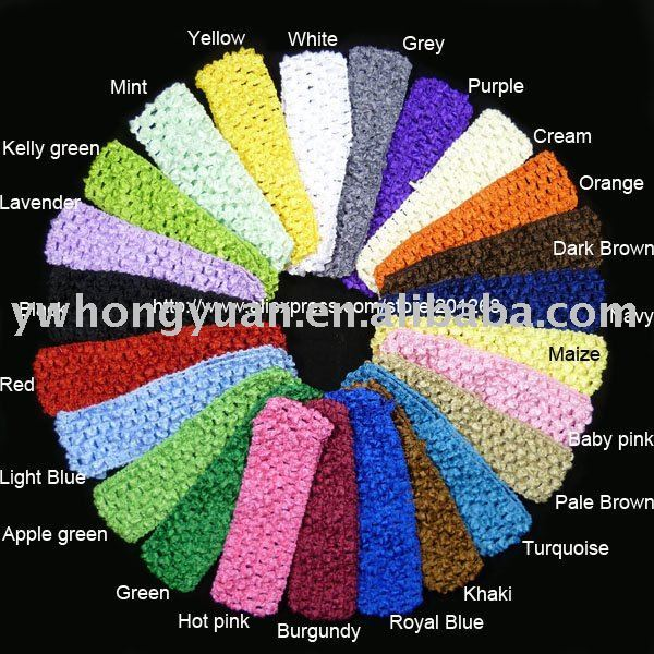 Free shipping Crochet headband baby headband for baby 1.5inch 23 colors in stock U Pick