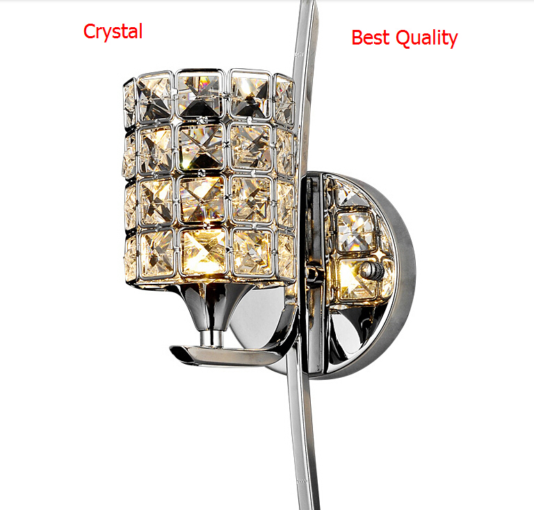 Christmas Modern Wall Lamp K9 Crystal Sconce G9 Hotel Bedroom Stairs Wall Light Home Indoor Decoration Fixtures Bathroom Light<br><br>Aliexpress