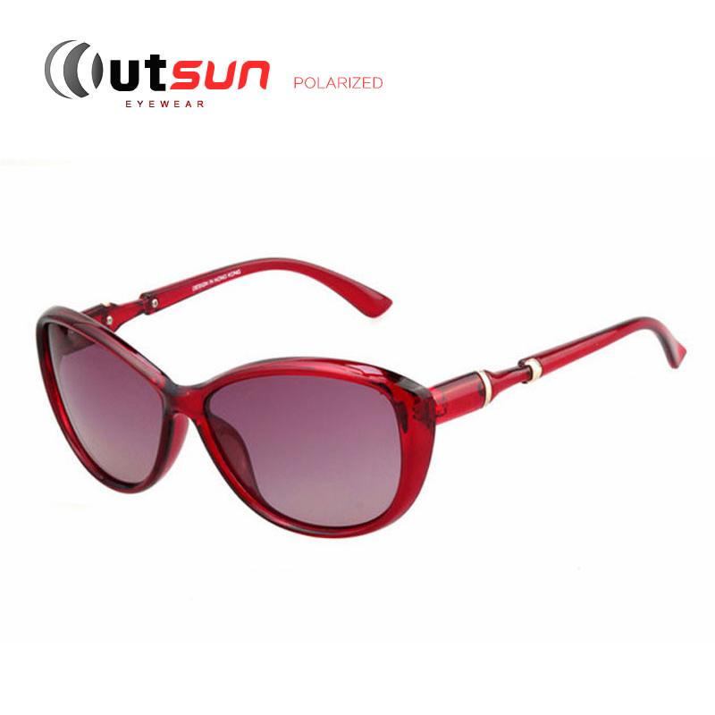 OUTSUN 2016 New Summer Style Polarized Cat Eye Sunglasses Women Eyewear Vintage Polaroid Sun glasses Female Oculos De Femininos(China (Mainland))