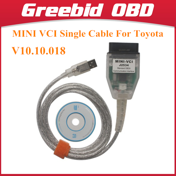 Cheap MINI VCI V10.10.018 Single Cable For Toyota Support for Toyota TIS OEM Diagnostic Software(Hong Kong)