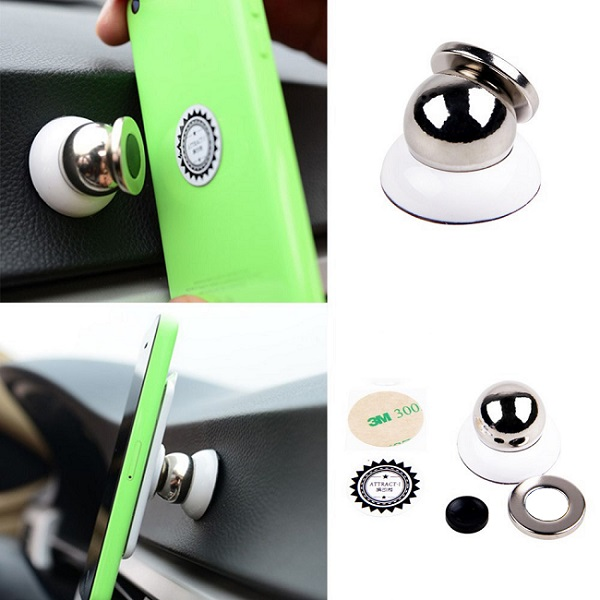 2016 360 Degrees Car Kit Magnetic Holder Car Universal Mount Windscreen Mobile Phone Stand Cradle For Iphone 6 Plus For Samsung