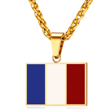 Buy New Hot Fashion France National Flag Pendant Jewelry Stainless Steel/Gold Color Patriot French Banner Necklace Women/Men GP2444 ) for $6.49 in AliExpress store