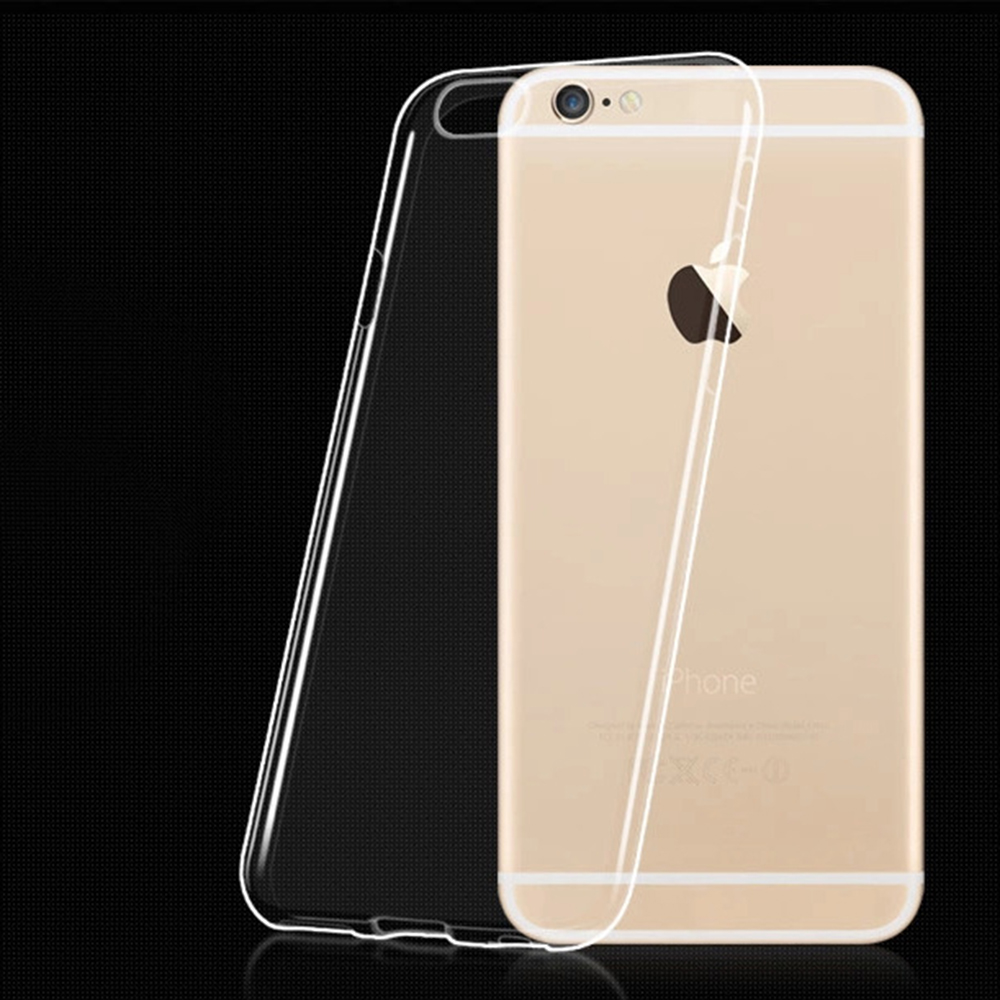 Ultra Thin Transparent Clear TPU Soft Silicone Cover For iPhone 6 / 6S / 6 Plus / 6S Plus Mobile Phone Case(China (Mainland))