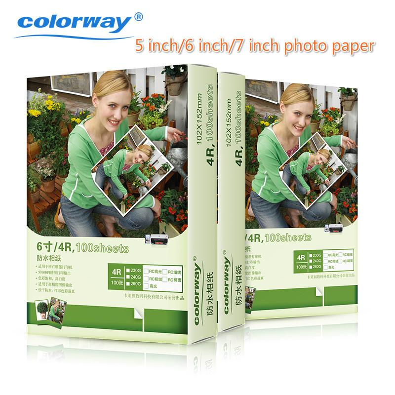 5 inch 6 inch 7 inch photo paper RC WiFi inkjet photo paper printing 4R photo paper 100pcs<br><br>Aliexpress