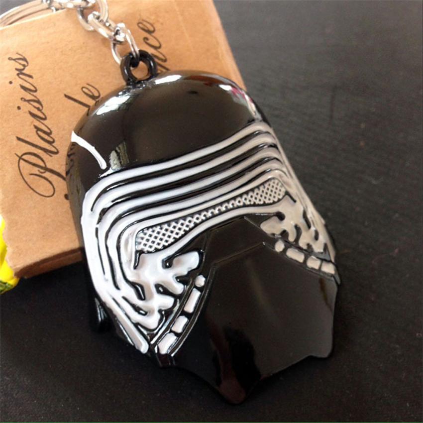 2016 Star Wars Kylo Ren Mask Metal Black Keychains Pendant Kylo Ren Key Chain Key Ring