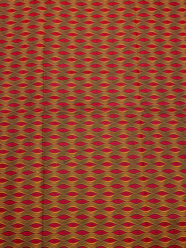 African Queen Fabrics Real Wax Red Gold Waves Design For Party Dress rw501602(China (Mainland))