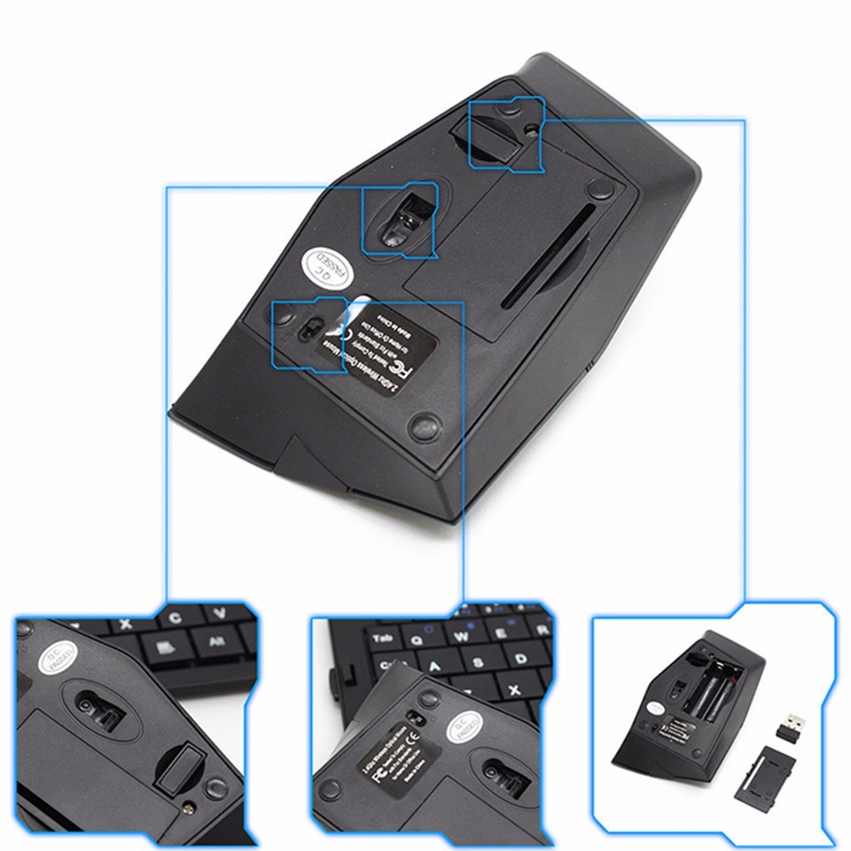 P M-189 2.4GHz Nano Optical Wireless Mouse 15M Range Rhombus Stealth Plane Style Gaming Mice For PC Laptop With USB Receiver