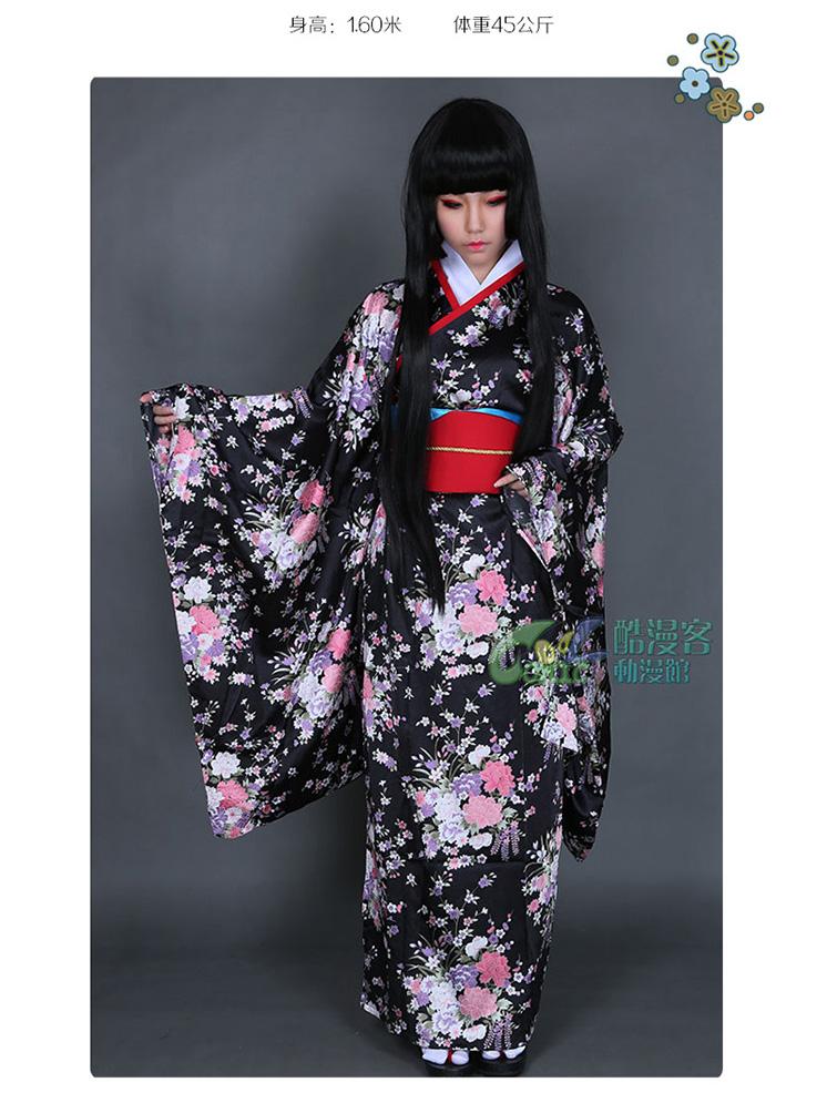 Бесплатная доставка быстрый сшитое ад девушка аниме косплей енма ай кимоно горячая распродажа Con ну вечеринку костюм одежда(China (Mainland))