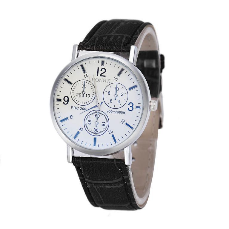 mens watches for sale online Faux Leather Analog high-end Business Wrist Watch montre homme(China (Mainland))