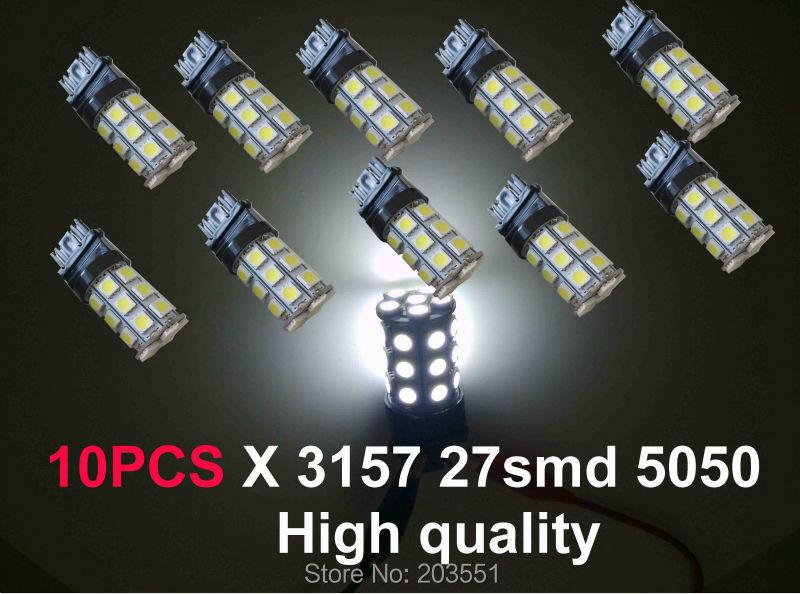 10PCS T25 3157 led 27smd 5050