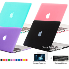 New Crystal/Matte Frosted Case Shell For Macbook Air 11.6 13.3 / Pro 13.3 15.4 Pro Retina 12 13.3 15.4 inch For Mac book Bag(China (Mainland))