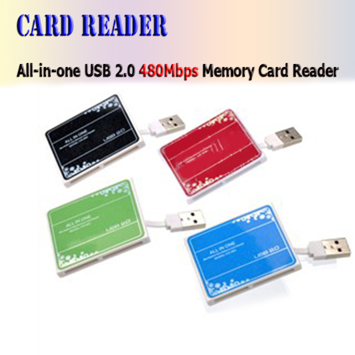 New 2015 All in one USB Card Reader Memory cardreader,T-Flash/TF/micro sd card reader,smart card reader for android notbook()