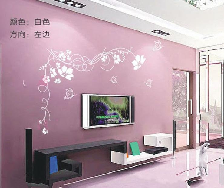 Background Color For Tv Wall E Wall Decal