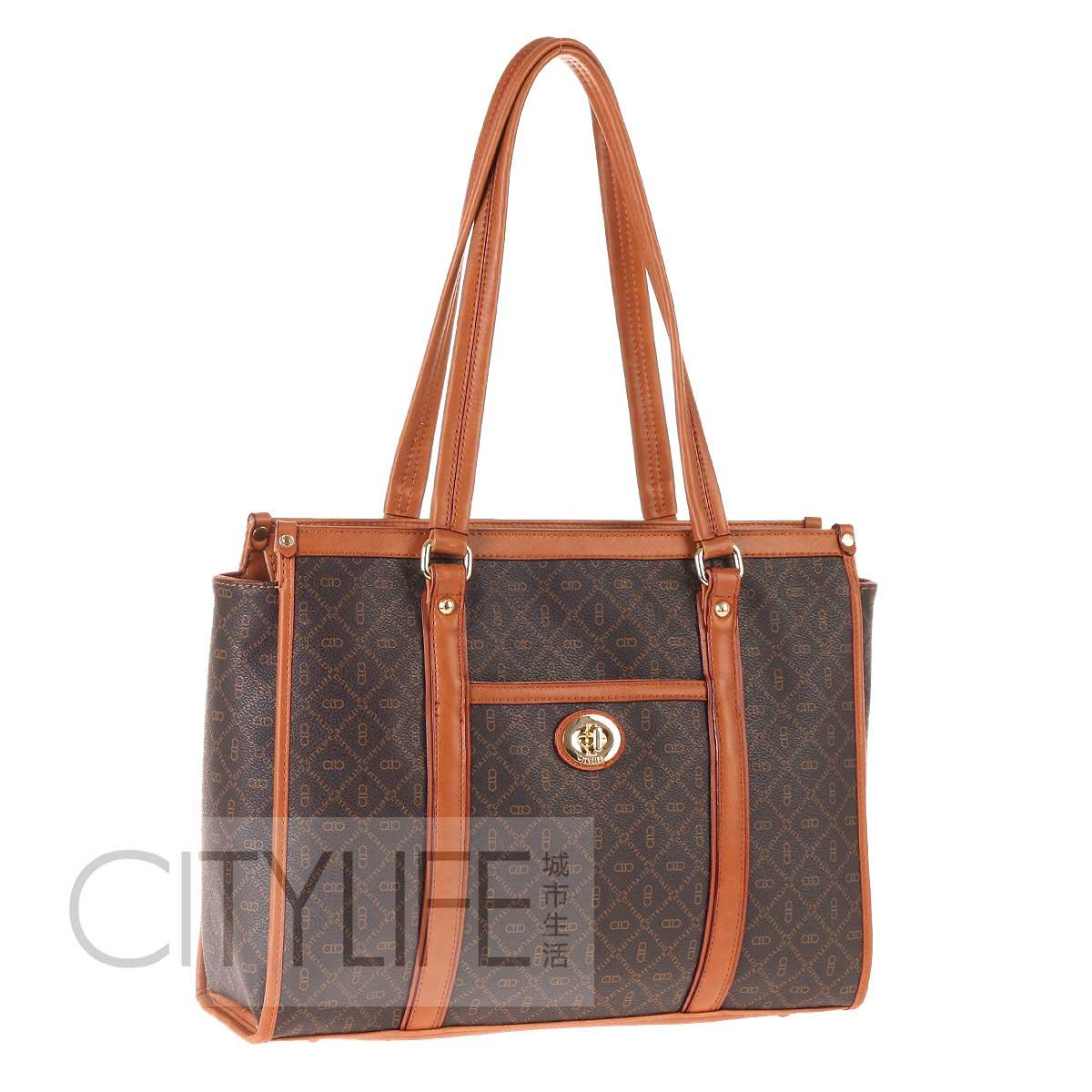 Winter 2012 citylife city life fashion women's print fashion handbag work bag star bag(China (Mainland))