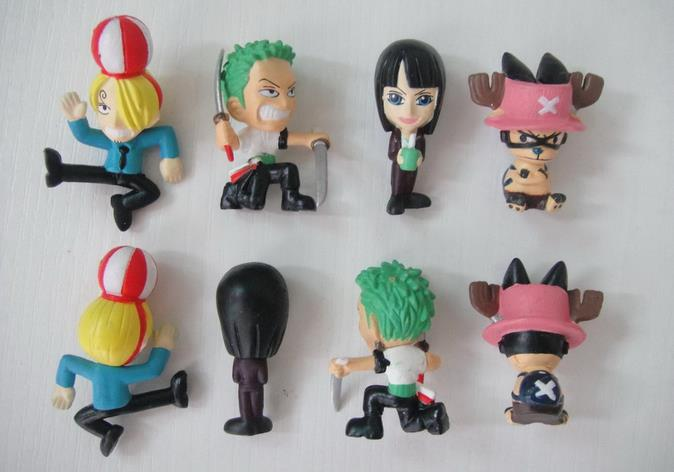 20pcs/lot 3.5CM Action toy figures, Hot sale toys for children, birthday gift for kids, mini one piece figure zoro etc(China (Mainland))